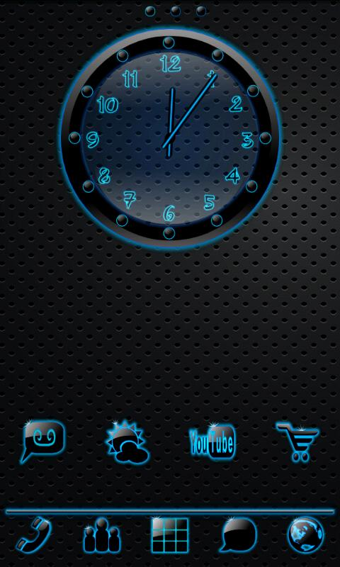 Sleek Ebony Clock Widget - screenshot