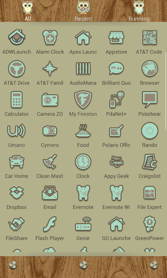 Go Launcher Themes: Hoot- screenshot