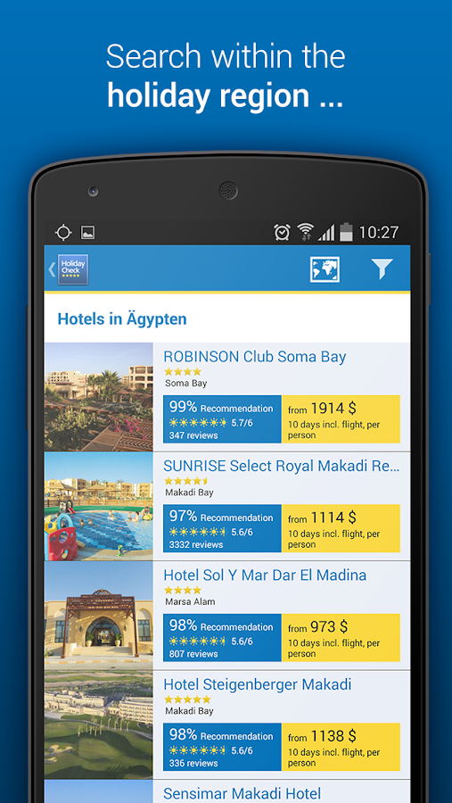 HolidayCheck - Hotels & Travel - screenshot