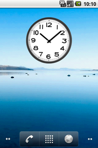 Simple Analog Clock - screenshot