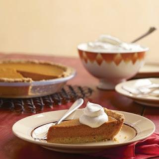 Pumpkin Tart with Press-In Shortbread Tart Shell