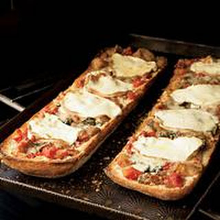 Eggplant Parm Bread Pizza.