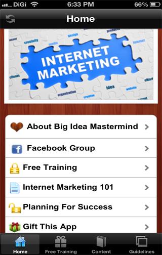 Big Idea Mastermind App for IM