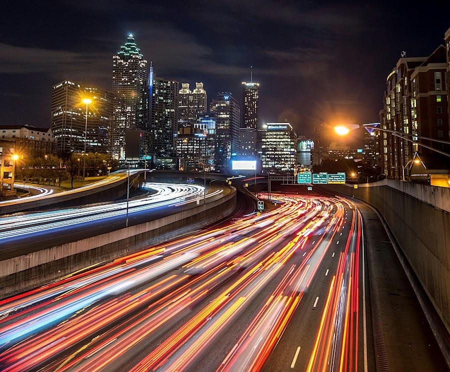 Atlanta by Shalabh Sharma - City,  Street & Park  Night