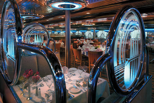 Carnival-Ecstasy-Wind-Song-restaurant - Sit down for a relaxing meal at the Wind Song restaurant, one of Carnival Ecstasy's main dining rooms.
