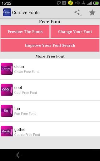 Fonts for FlipFont Cursive