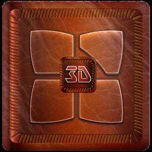 Leather Next Launcher 3D Theme 個人化 LOGO-玩APPs