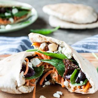 Mediterranean Veggie Pita Sandwich