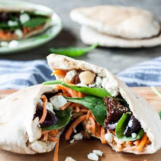 Mediterranean Veggie Pita Sandwich.