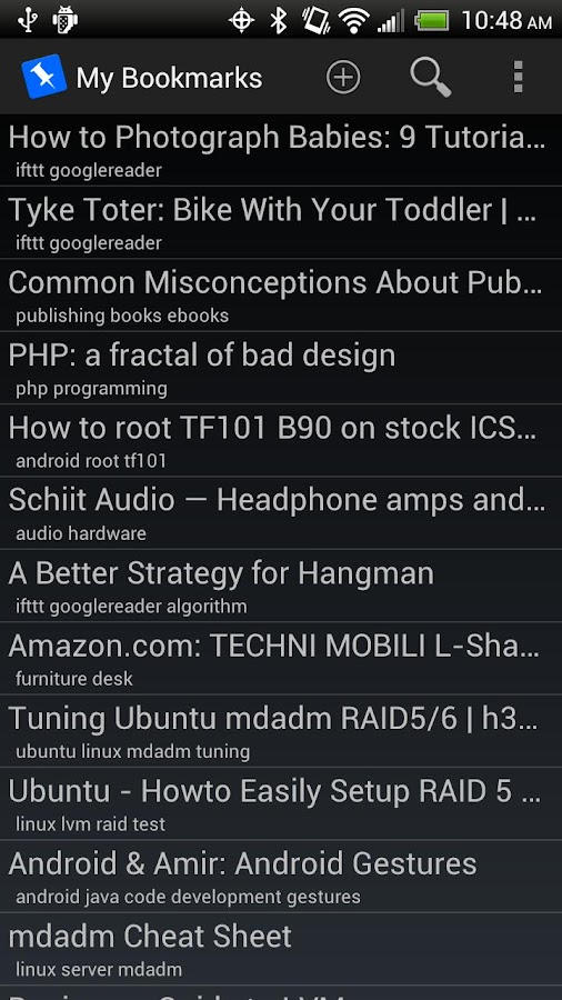 PinDroid - screenshot
