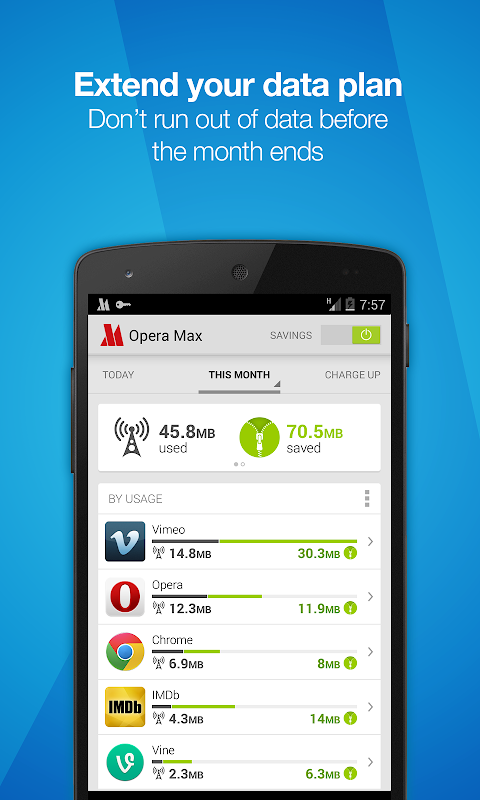 Opera Max - Data manager 0.9.714.1 APK
