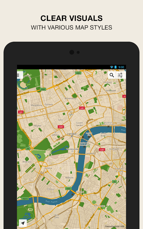 GPS Navigation Maps Scout Android Apps on Google Play