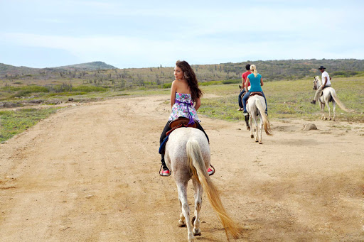horseback-riding-Aruba - Get on your high horse: horseback riding on Aruba.