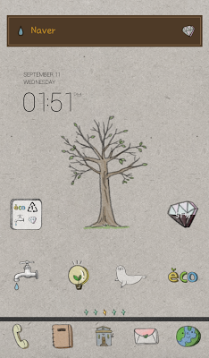 Eco plain note dodol launcher - screenshot