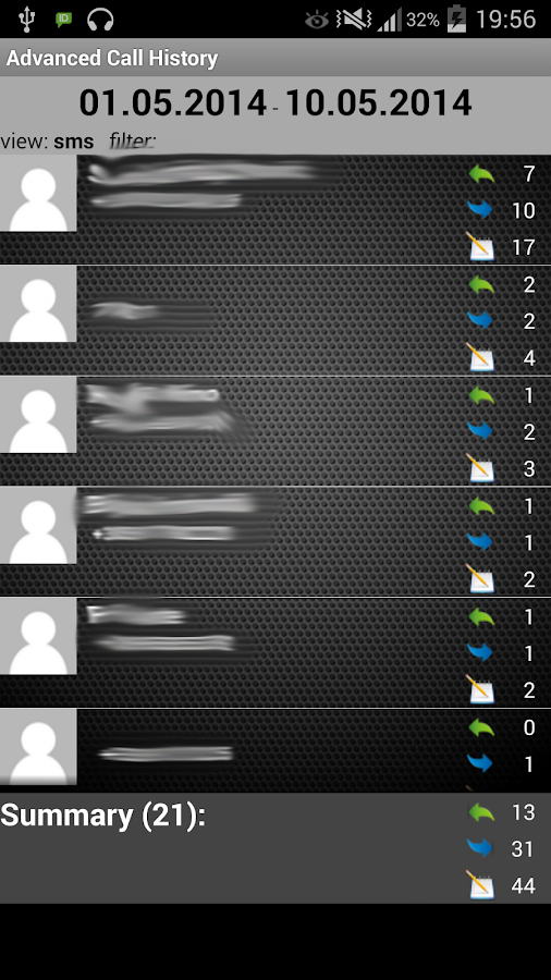Advanced Call History- screenshot