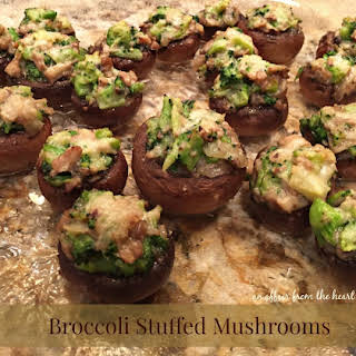 Broccoli Stuffed Mushrooms - One of my MOST FAVORITE appetizers.