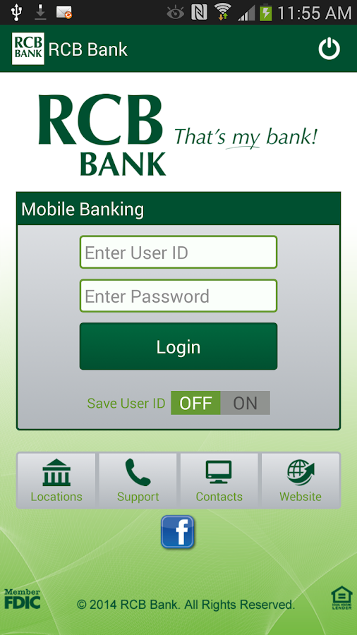 RCB Bank Mobile Banking - screenshot