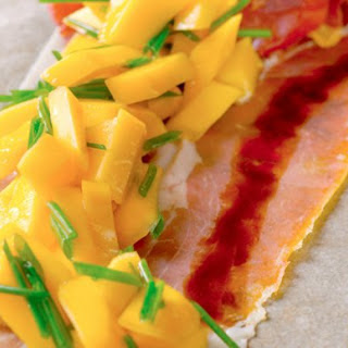 Prosciutto With Peaches And Balsamic Vinegar.