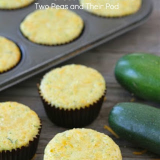 Zucchini Cheddar Corn Muffins