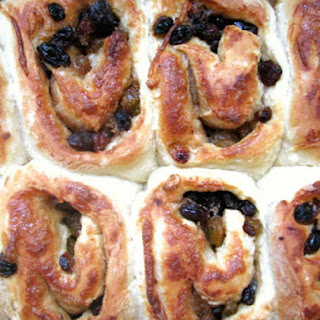 Chelsea Buns (British Cinnamon Rolls with Raisins)
