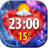 Diamonds Clock Weather Widget