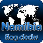 Namibia flag clocks