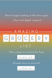 Amazing Grocery List - screenshot thumbnail