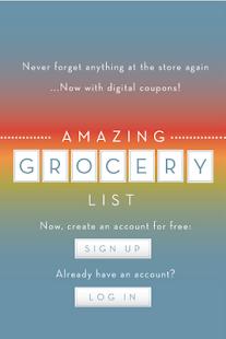 Amazing Grocery List - screenshot thumbnail