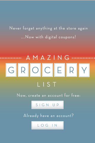 Amazing Grocery List - screenshot