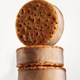 Chocolate-Creme Brulee Ice Cream Sandwiches.