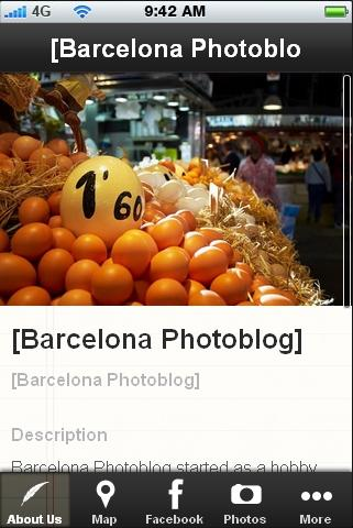 Barcelona Photoblog- screenshot