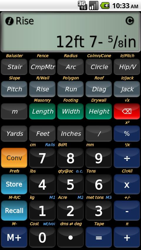 BuildCalc- screenshot