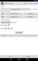 Screenshot of Project Schedule