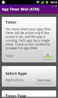 Screenshot of App Timer Mini (ATM)