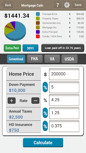 LenderApp Mortgage Calculator