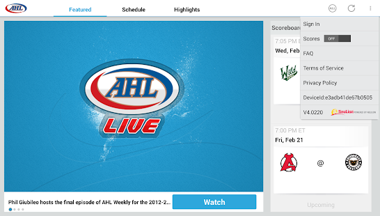 AHL Live - screenshot thumbnail