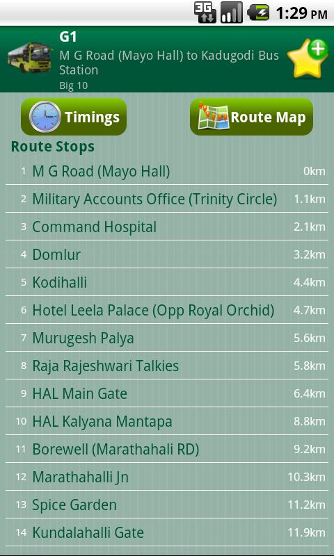 Bangalore CityTransit - screenshot