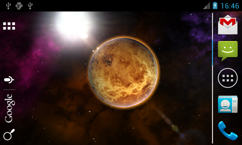 Planets 3D Live Wallpaper- screenshot
