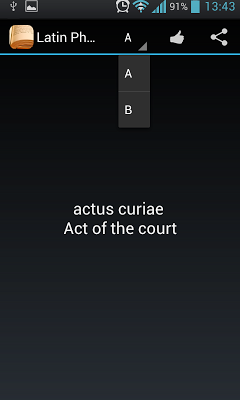 English 2 Latin Dictionary - screenshot