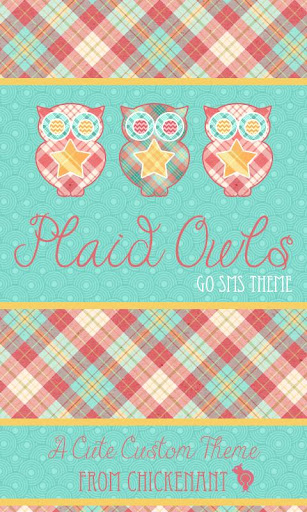 Plaid Owls Theme GO SMS