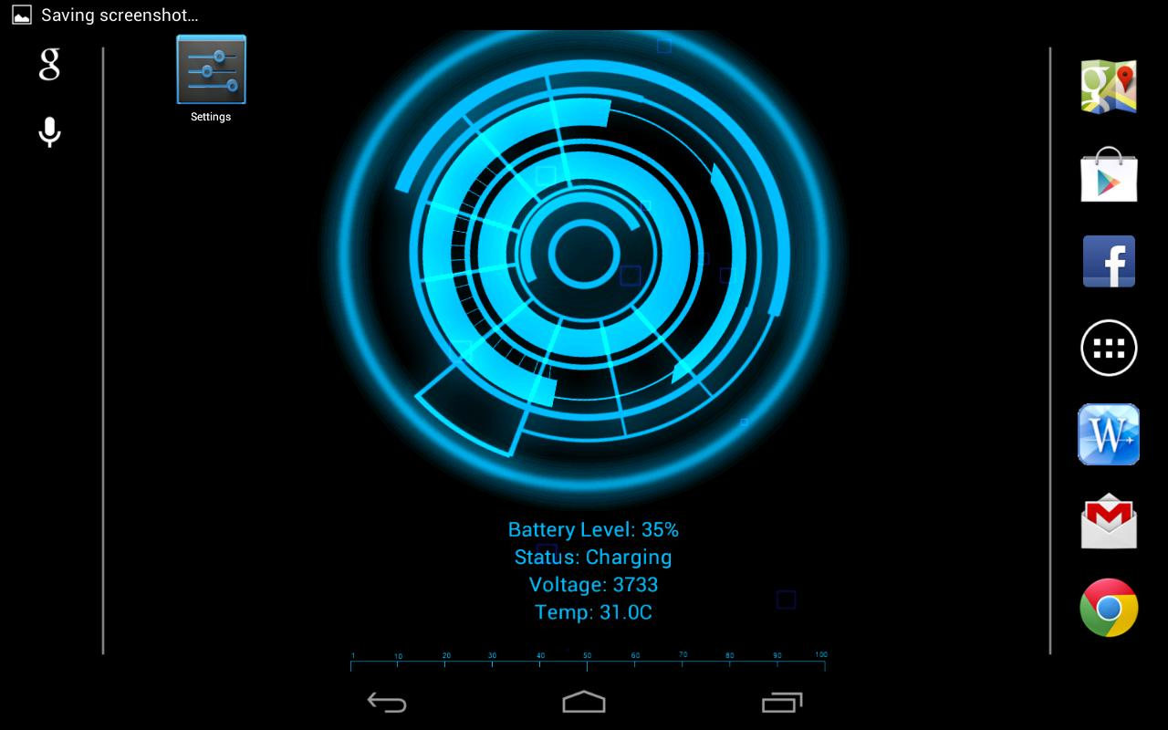 Battery Core Live Wallpaper(F) - screenshot