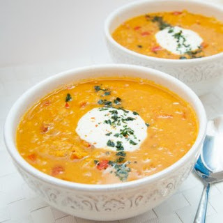 Red Lentil Carrot Soup.