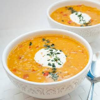 Red Lentil Carrot Soup.