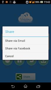 Voicine - Sound recorder email screenshot
