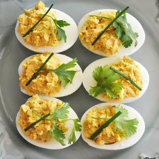 Curry Deviled Eggs.