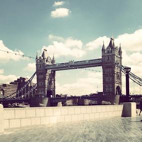London Town #london #river #bridge #towerbridge #london #england #home by Sharon Clark - Novices Only Landscapes