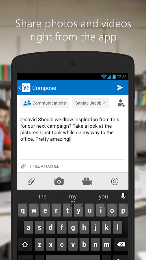 Yammer- screenshot
