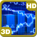 Stock Market Ticker Tape 3D icon