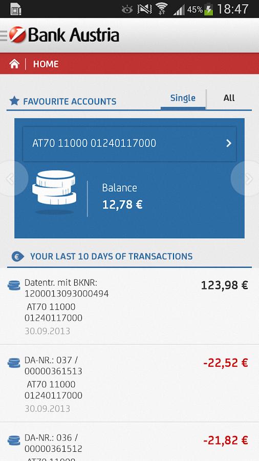 Bank Austria Mobile Tan