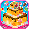 Birthday cake decoration icon